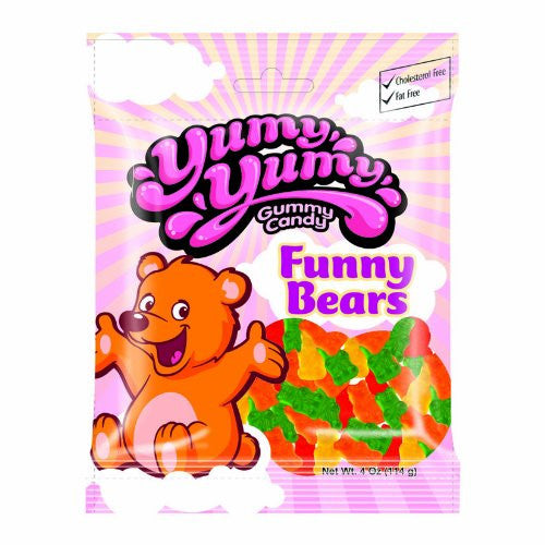 YUMY YUMY Gummy Candy - Funny Bears Gummy Candy