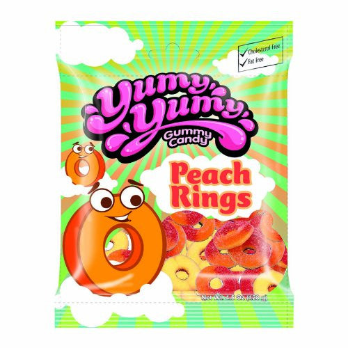 YUMY YUMY Gummy Candy - Peach Rings Gummy Candy
