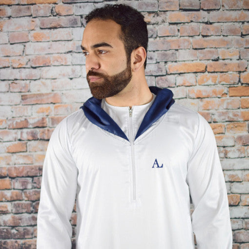 Abbas Labbas White With Blue Hoodie