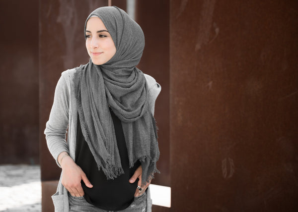 LA Modesty Premium Cotton - Charcoal Grey