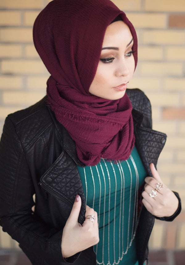LA Modesty Premium Cotton - Burgundy