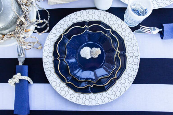 Marrakesh Navy Blue Dinner Plates