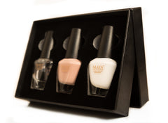 French Manicure Set -Halal Breathable Vegan Nail Polish