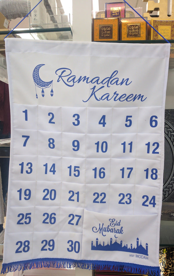Ramadan Advent Calendar -White and Blue