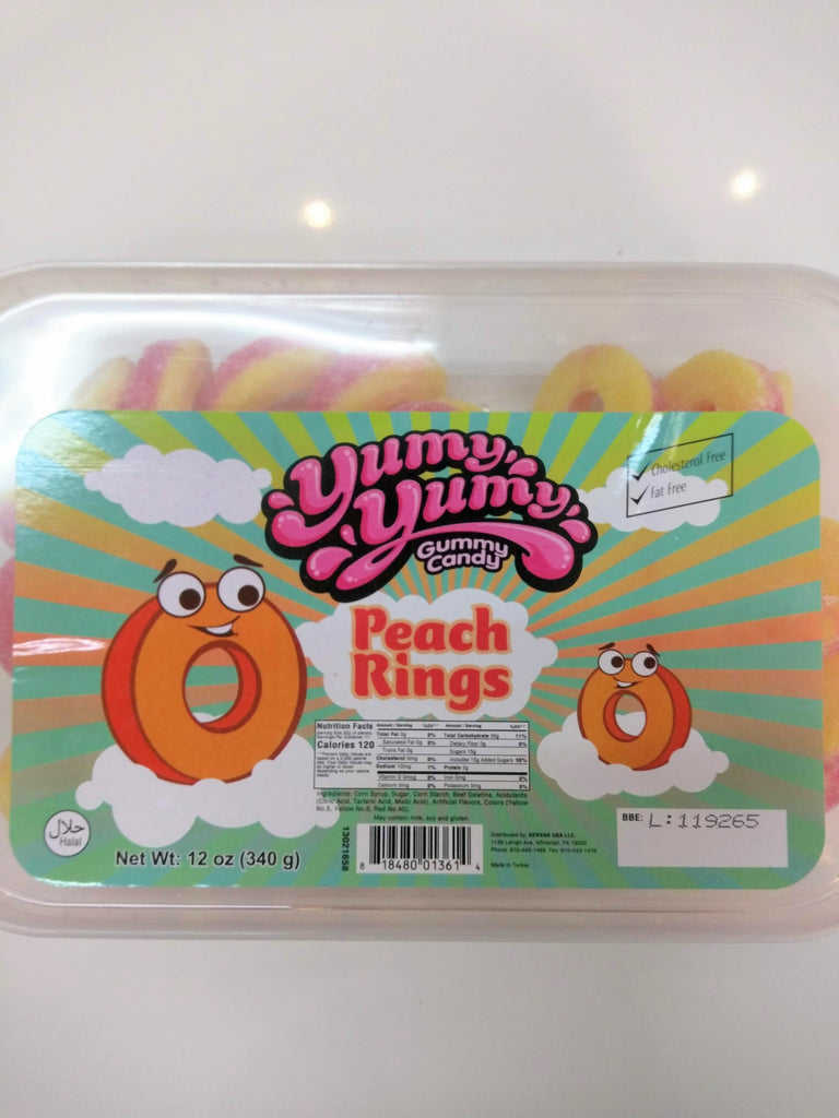 Yumy yumy Gummy Candy - Peach Rings Gummy Candy Box
