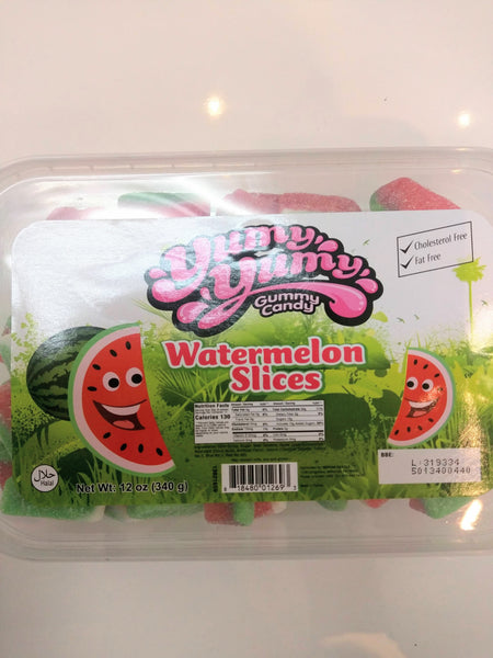 YUMY YUMY Gummy Candy - Watermelon Slices Gummy Candy Box