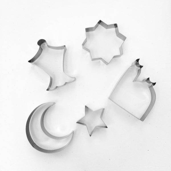 Ramadan / Eid Cookie Cutter Set - 5 pc