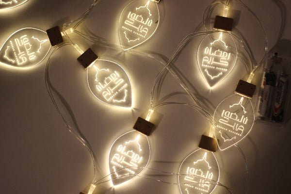 Leaf Shaped Acrylic LED String Lights
