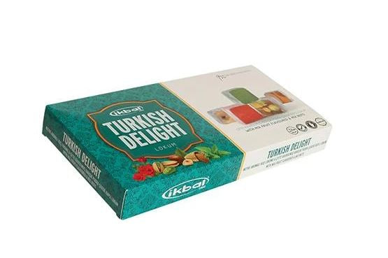 Ikbal Turkish Delight with Mixed Fruit Flavoured and Mix Nuts 454g