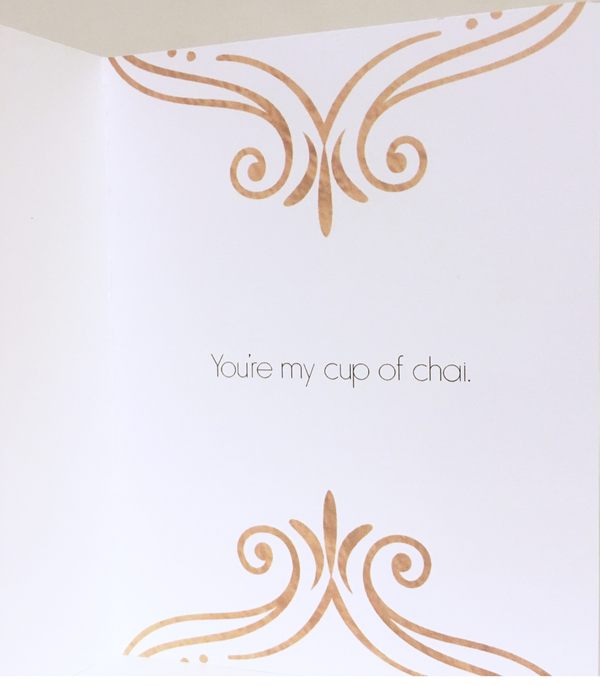 You Are My Cup Of Chai Greeting Card