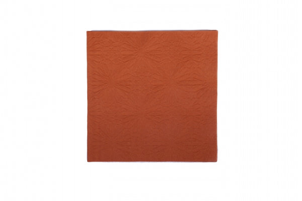 Marrakesh Terra Cotta Embossed Dinner Napkins