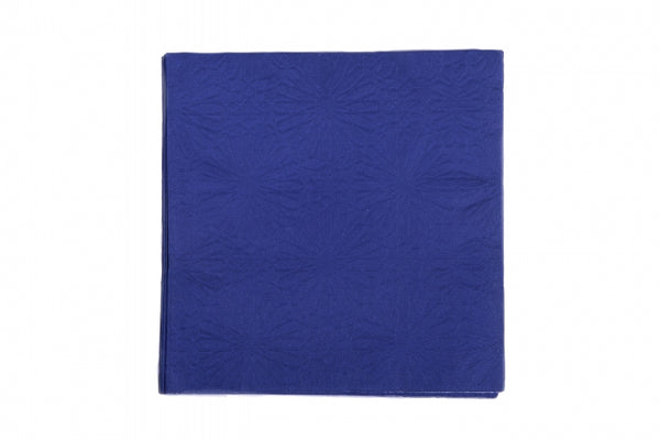 Marrakesh Navy Blue Embossed Dinner Napkins
