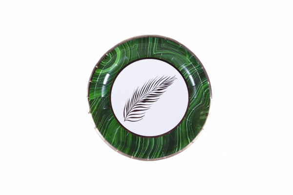 Malachite Palm Dessert Plates