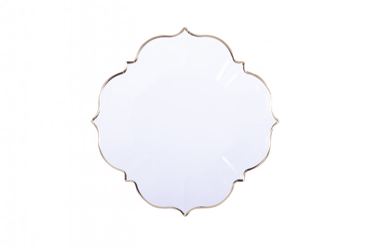 White Linen Lunch Plates