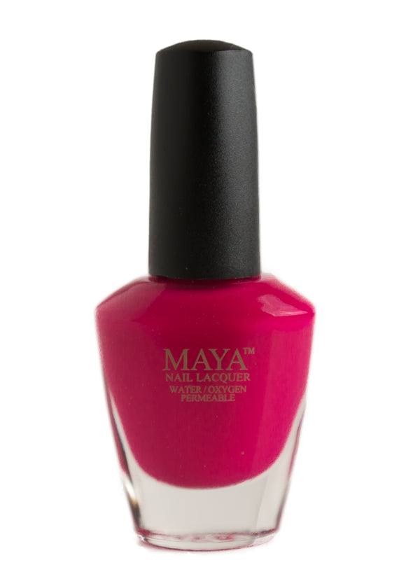 The Fuschia is Bright-Halal breathable vegan nail polish