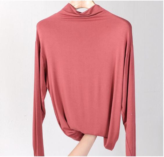 Basic Top Turtle Neck - Indian Red