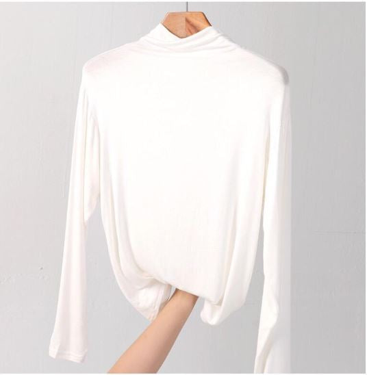 Basic Top Turtle Neck - White