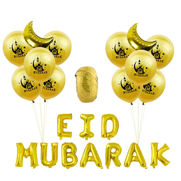 Eid Mubarak Foil Balloon Kit - Gold