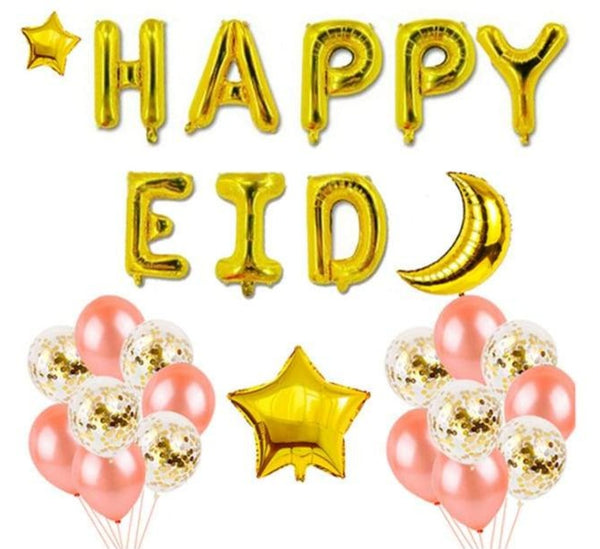 Happy Eid Foil Balloon Kit - Pink & Gold