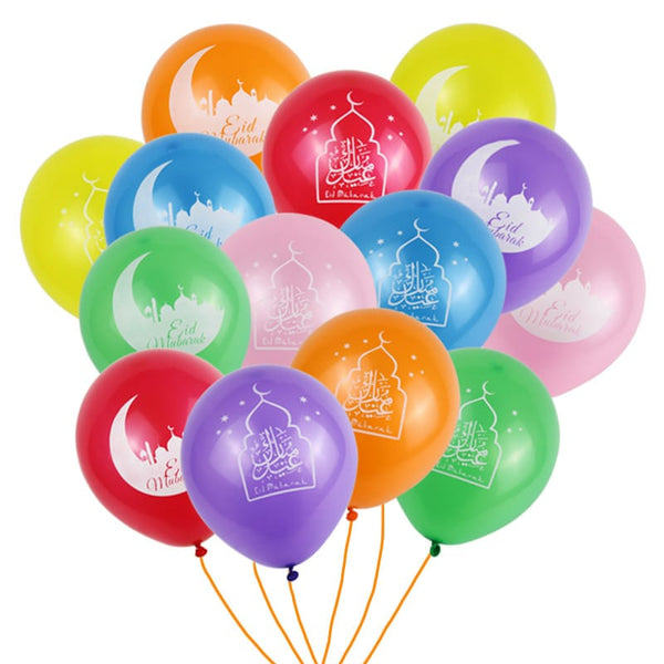 Multi Coloured Eid Mubarak Balloon Kit