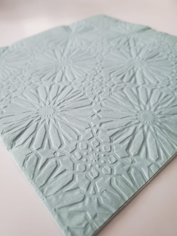 Maroc Sky Embossed Dinner Napkins