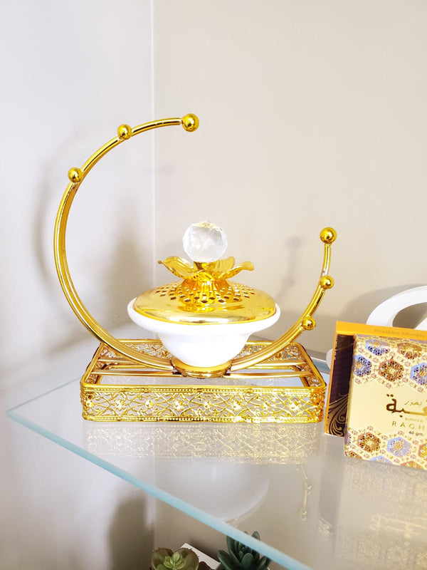 Bakhoor Burner - Gold & Ceramic