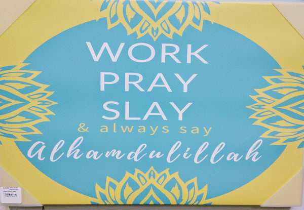 Rectangular Digital Work Play Slay Canvas