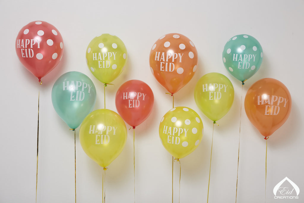 Happy Eid Latex Balloons