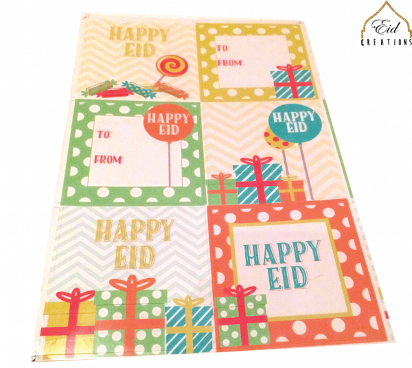 Happy Eid Party Stickers