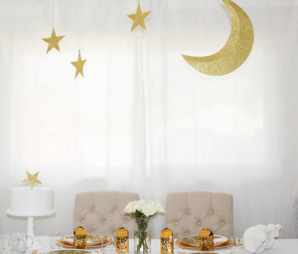 Crescent and Star 3D Hanging Decoration