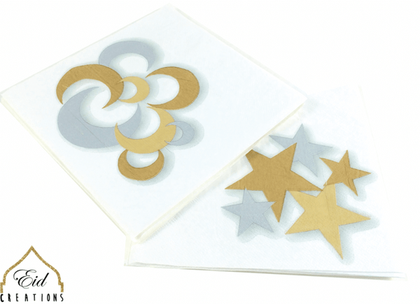 Crescent Star Gold/Silver Dinner Napkins