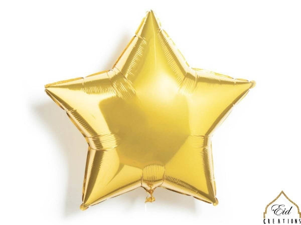 Star Gold Mylar Balloon