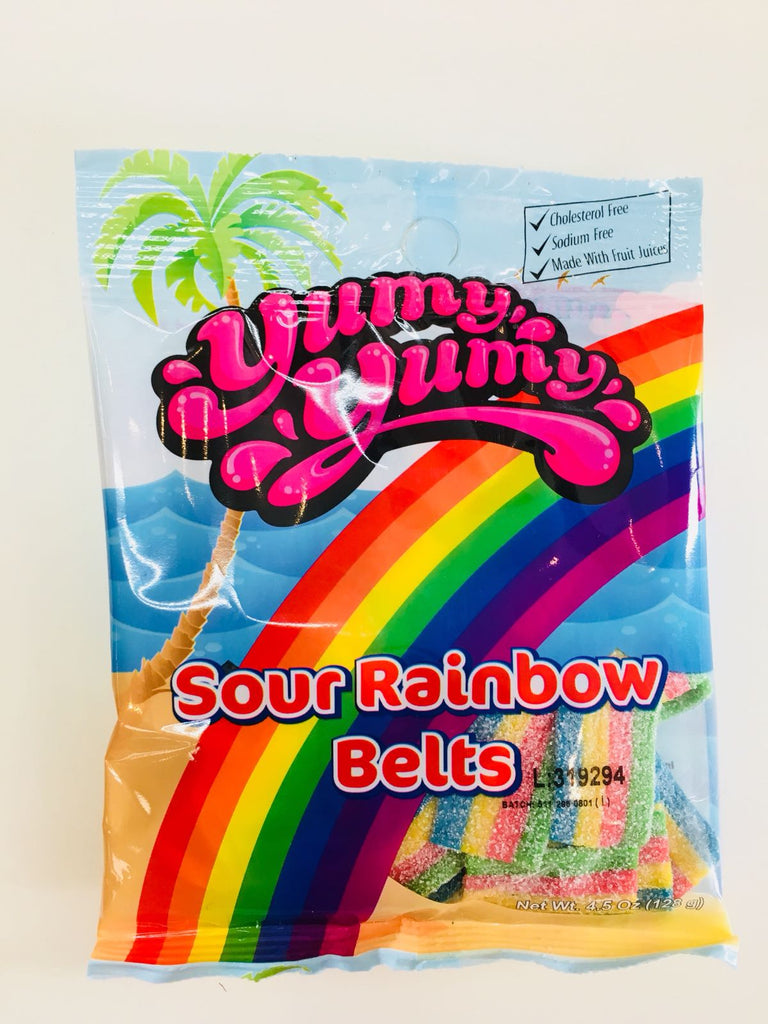 YUMY YUMY Sour Rainbow Belts Gummy Candy