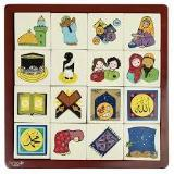 Wooden Arabic Memory Game
