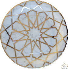 Marble Mosaic Dinner Plates