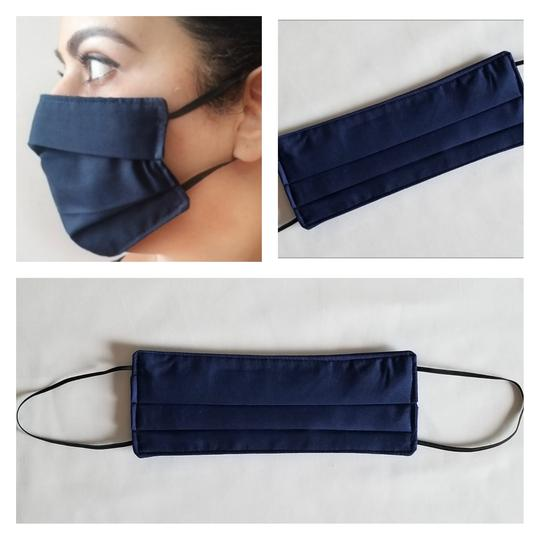 Triple Layered Face Mask - Navy Blue