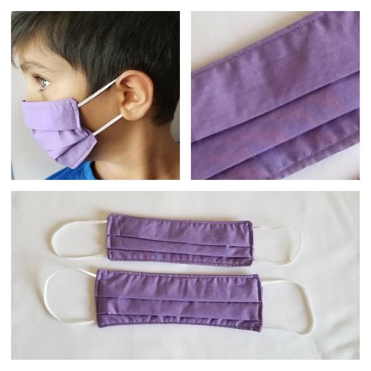 KIDS Triple Layered Face Mask - Purple