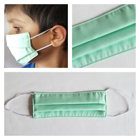 KIDS Triple Layered Face Mask - Mint Green