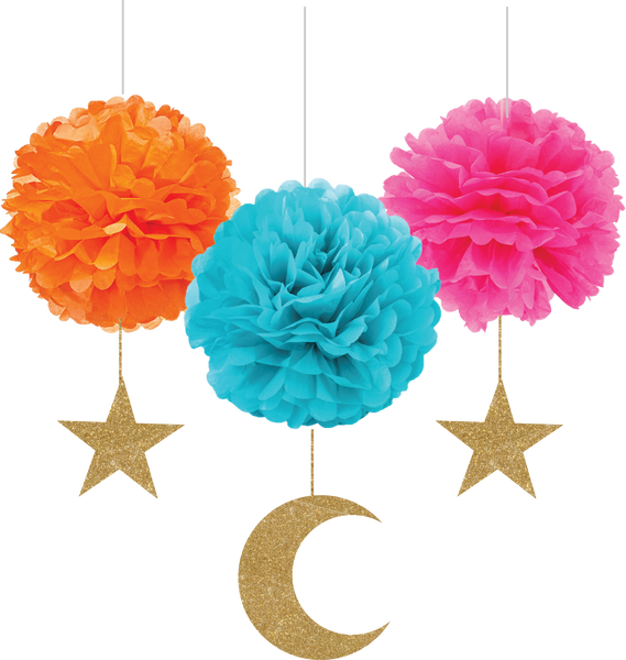 Eid Pom Pom Hanging Decoration