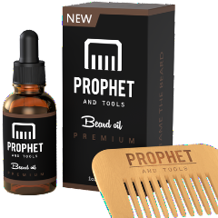 Prophet and Tools Beard Oil and Comb Set - 30ml/1OZ - Original Premium Edition