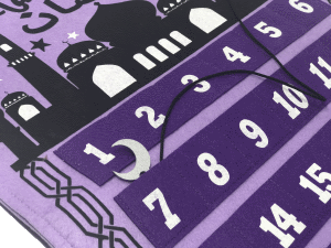 Ramadan Tracking Calendar Purple