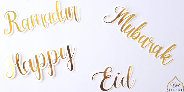 Eid/Ramadan/Happy/Mubarak Cut Outs