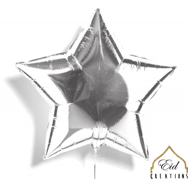 Star Silver Mylar Balloon