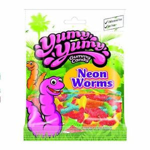 YUMY YUMY Gummy Candy - Neon Worms Gummy Candy