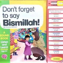 Don't Forget To Say Bismillah Sound Book