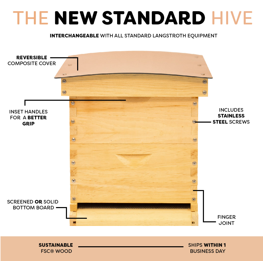 Medium Standard Langstroth Hive product features