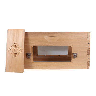 Western red cedar deep hive box with windows