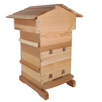 warre hive with windows made from western red ceder