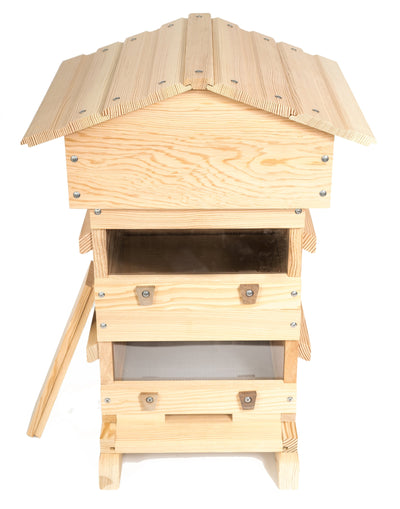 Douglas fir Warre hive with windows
