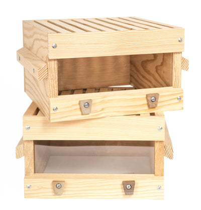 Douglas fir Warre box with window
